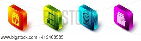 Set Isometric Online Ordering And Delivery, Online Ordering And Delivery, Round The Clock Delivery A