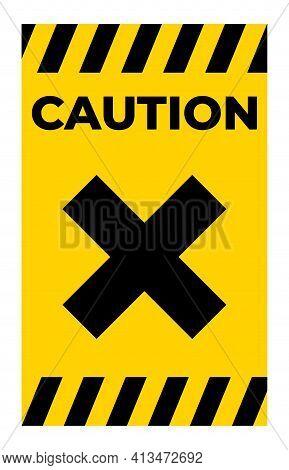 Beware Irritant Sign Isolate On White Background,vector Illustration Eps.10