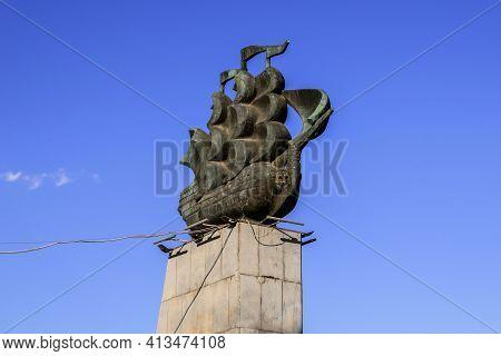 Kherson, Ukraine - July 22, 2020: Monument