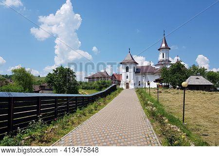 Manastirea Humor, Romania On 12.06.2019. Entrance To The New Church Near Humor Monastery