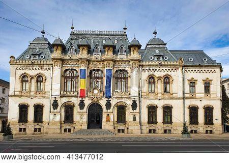 Craiova, Romania - 11.02.2020: Craiova City Hall, In Romania. Located In Dolj County, Craiova Is 6th