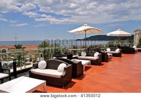 Terrace of the luxury hotel