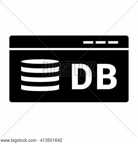 Database Icon Isolated On White Background Flat Style. Database Symbol For Your Web Site Design, Log