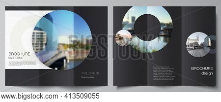 Vector Layouts Of Covers Design Templates For Trifold Brochure, Flyer Layout, Magazine, Book Design,