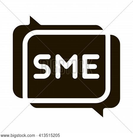 Sme In Talking Quote Frames Icon Vector