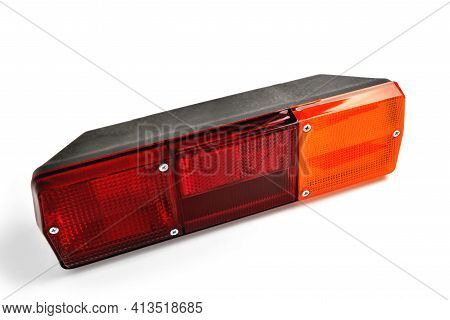 Back Light, Car Tail Light, Multi-section Truck Tail Light, Auto Part, Car Detail White Background C