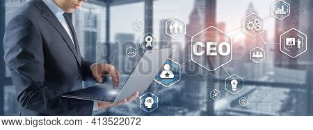 Chief Executive Officer. Ceo Business Concept On Virtual Screen