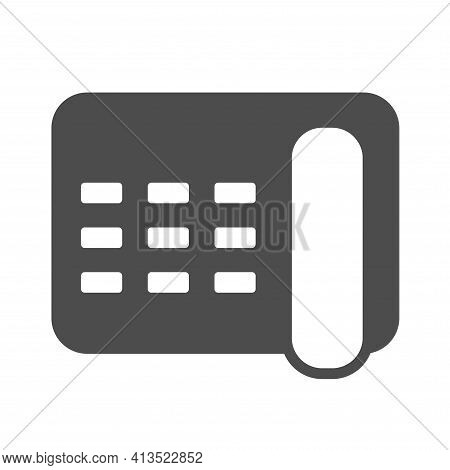 Telephone Silhouette Vector Icon Isolated On White. Telephone Icon For Web, Mobile Apps, Ui Design A