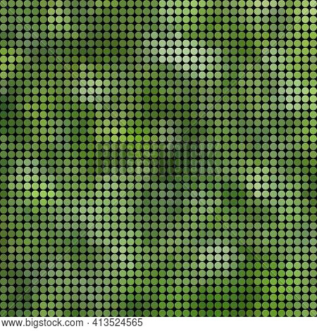 Abstract Vector Colored Round Dots Background - Green