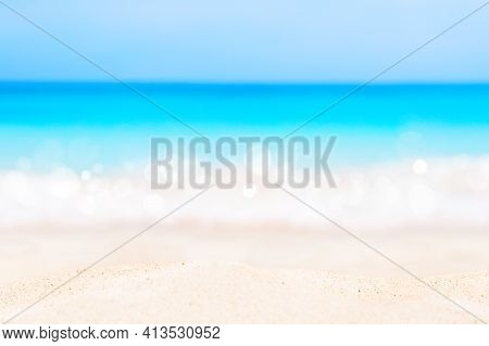 Blue Sky And Beautiful Beach In Punta Cana, Dominican Republic. Vacation Holidays Background Wallpap