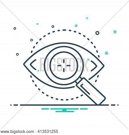 Mix Icon For Eye-test Optometrist Eyesight Retina Eye Checkup
