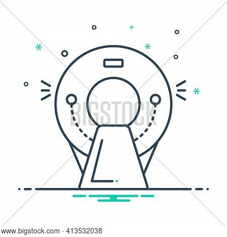Mix Icon For Ct-scan Radiologist Oncology Tomography Ct Scan