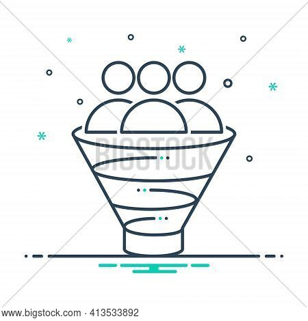 Mix Icon For Sales-funnel Sales Funnel Purchase