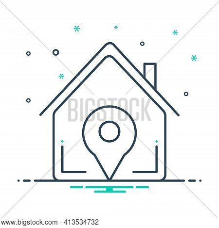 Mix Icon For Real-estate-location Real Estate Location Navigation Home Property