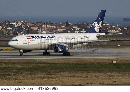 Istanbul, Turkey - March 27, 2019: Iran Airtour Airbus A300 Ep-mnn Passenger Plane Departure At Ista