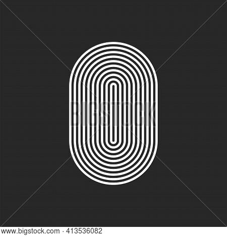 Letter O Or 0 Logo Initial Monogram, Smooth Rounded Offset Thin Lines, Sleek Lines Abstract Track Ov
