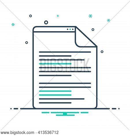Mix Icon For Scenarios  Script Document Letter Manuscript Certificate