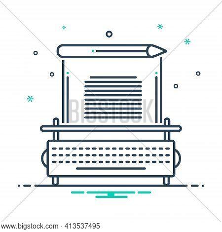Mix Icon For Copywriting  Typewriter Copy Copywriter Content