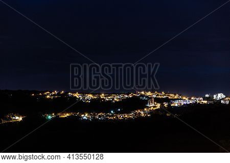City Lights With Houses And Buildings