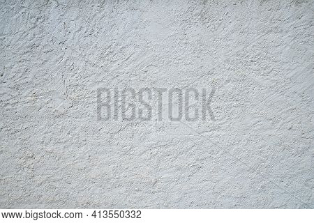 White Rough Wall Background. Rough Plastered Wall Background Texture.