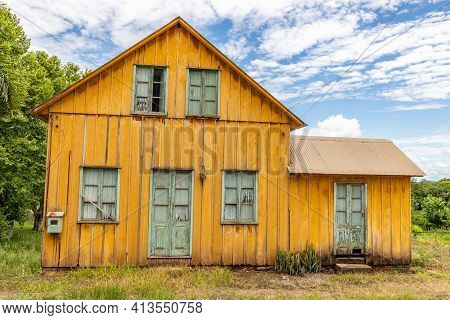 Typical Wood House,  Bento Goncalves, Rio Grande Do Sul, Brazil