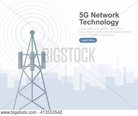 5g Network Technology. Abstract Icon. 3d Vector Background. Home Network. Business Concept. Abstract