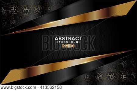 Abstract Creative Black And Gold Combination Background Design. Modern Background Design Illustratio