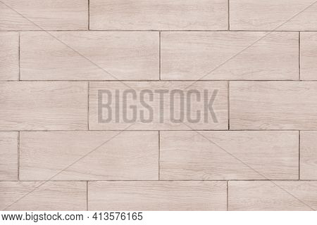 Gray Light Laminate Tile Floor Texture Background, Top View.