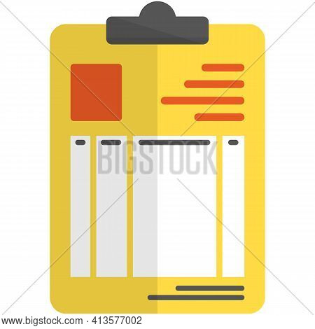 Patient Medical Card Report Icon Vector On White