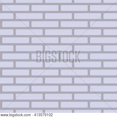 Gray Brick Wall Background, Grey Seamless Pattern - Vector
