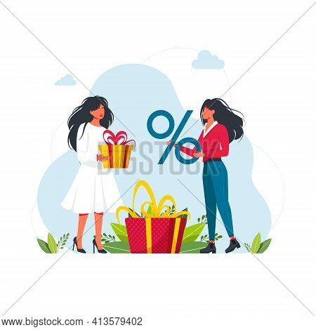 Earn Loyalty Program Points And Get Online Reward And Gifts. People Earning Points, Bonuses, Getting