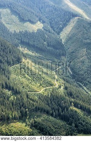 Low Tatras Mountains Scenery, Slovak Republic. Hiking Theme. Seasonal Natural Scene.