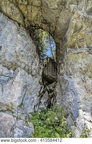 Ohniste Rock Massif, Low Tatras Mountains, Slovak Republic. Hiking Theme. Seasonal Natural Scene.