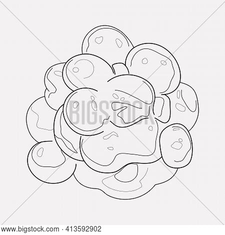 Caviar Icon Line Element. Vector Illustration Of Caviar Icon Line Isolated On Clean Background For Y