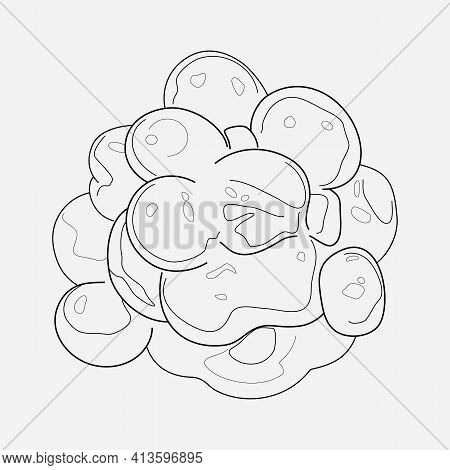 Caviar Icon Line Element. Illustration Of Caviar Icon Line Isolated On Clean Background For Your Web