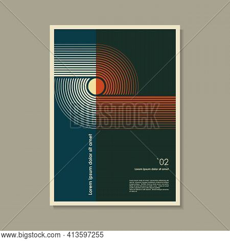 Artwork Inspired Postmodern Of Vector Abstract Dynamic Symbols With Bold Geometric Shapes, Useful Fo