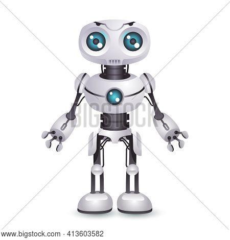 Robot Technology Mechanical Artificial Intelligence Future Scifi Science Fiction Design 3d Vector Il