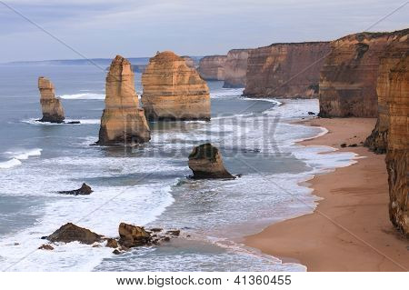 die zwölf Apostel an der great Ocean Road, Australien.