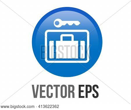 The Isolated Vector Gradient Blue Left Luggage Stoage Service Icon, Represent Place To Leave Luggage