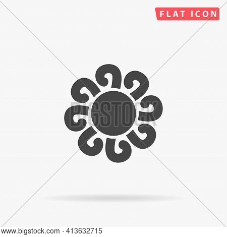 Fractal Flat Vector Icon. Hand Drawn Style Design Illustrations.