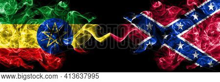Ethiopia, Ethiopian Vs United States Of America, America, Us, Usa, American, Confederate Navy Jack S