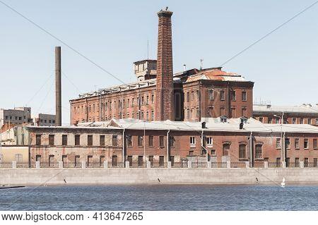 Industrial Buildings Of Former Gutuevskaya Cloth Manufactory On Yekateringofka River Embankment In S