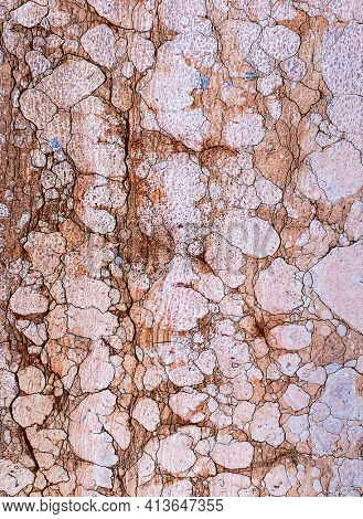 old textured Red Verona marble surface, Venice, Italy