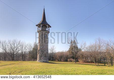 Kitchener, Ontario, Canada - November 6: The Waterloo Pioneer Memorial Tower  On [november 6, 2020]