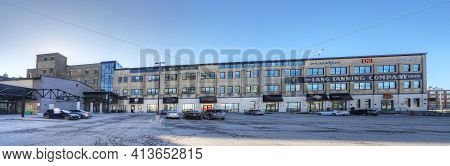 Kitchener, Ontario, Canada - November 6: A Panorama Of The Historic Lang Tannery Building  On [novem