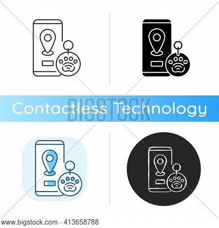Nfc And Rfid Pet Tags Icon. Provide All Important Data About Your Pet In One Small Digital Device At