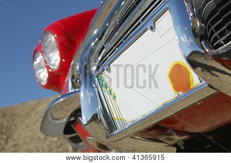 Close up number plate of a car