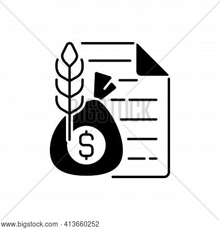 Commodity Broker Black Linear Icon. Business Contract. Trading Deal For Agricultural Industry. Finan