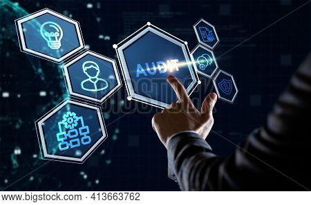 Business, Technology, Internet And Network Concept. Audit Business And Finance Concept.