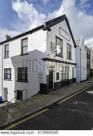 May 2015, Hastings, East Sussex, Uk -  View Of The Fishermen's Club In The Old Town, Hastings, East